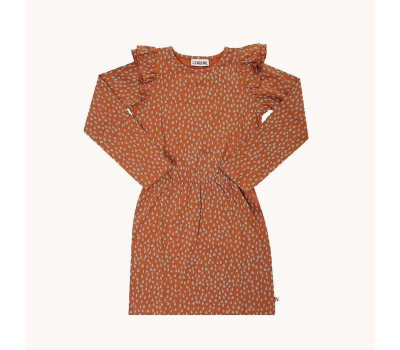 CarlijnQ Mountain Air Sparkles - ruffled dress