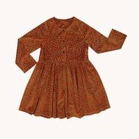 CarlijnQ Mountain Air Sparkles - velours dress wt 3 buttons