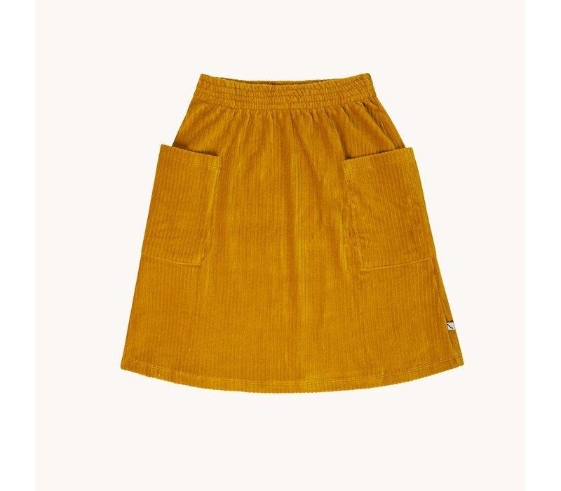 CarlijnQ Corduroy yellow - skirt wt pockets