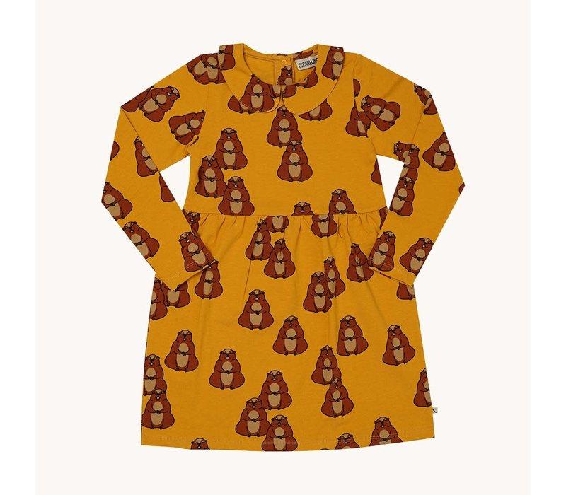 CarlijnQ Alpine Marmot - collar dress