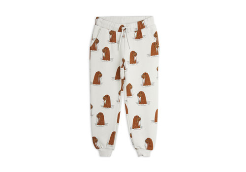 Mini Rodini Mini Rodini Walrus aop sweatpants Grey