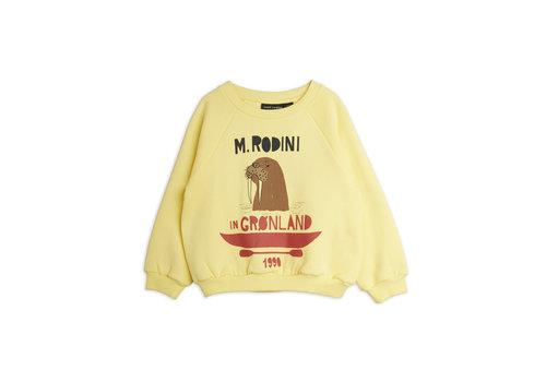 Mini Rodini Mini Rodini Walrus sp sweatshirt Yellow