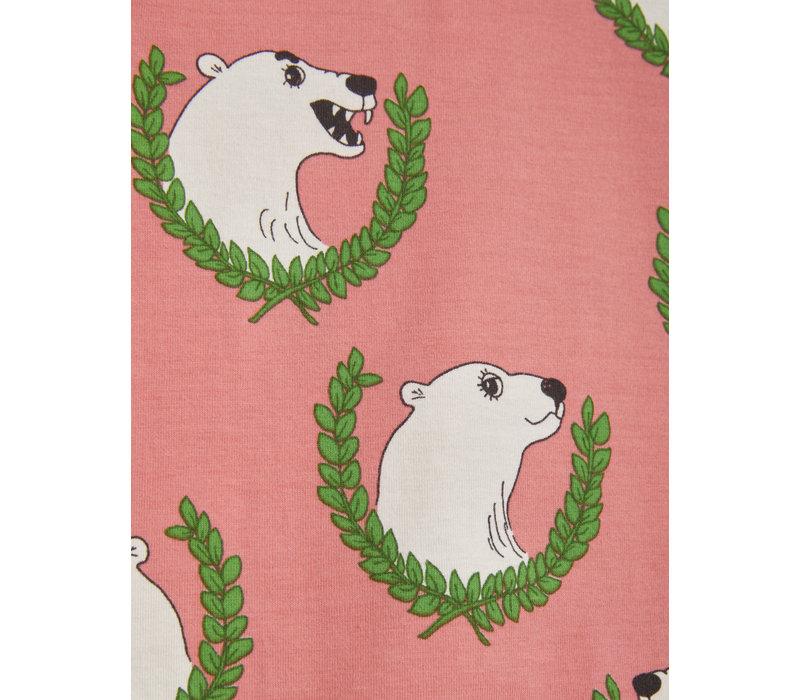 Mini Rodini Polar bear aop ls tee Pink