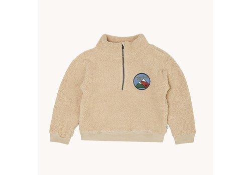 CarlijnQ CarlijnQ Mountain Air – teddy sweater wt zipper & embr.