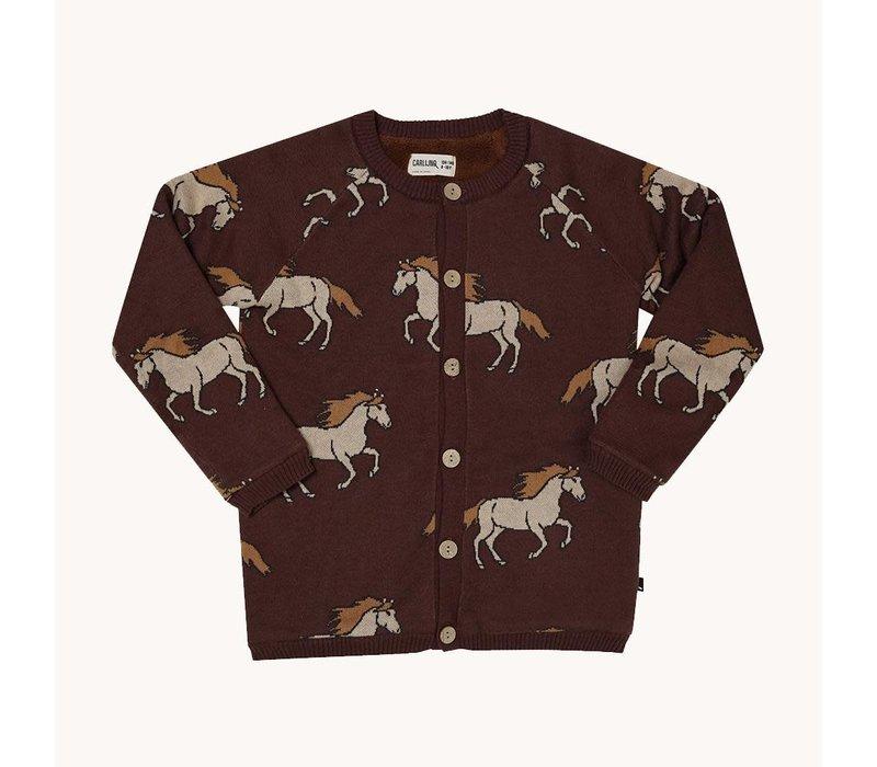 CarlijnQ Wild Horse - knitted cardigan wt teddy lining