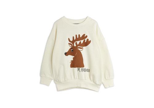 Mini Rodini Mini Rodini Deer sp sweatshirt Offwhite