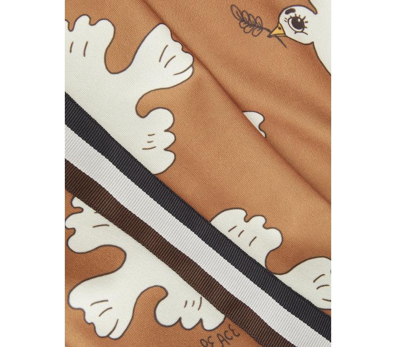 Mini Rodini Dove aop wct trousers Brown