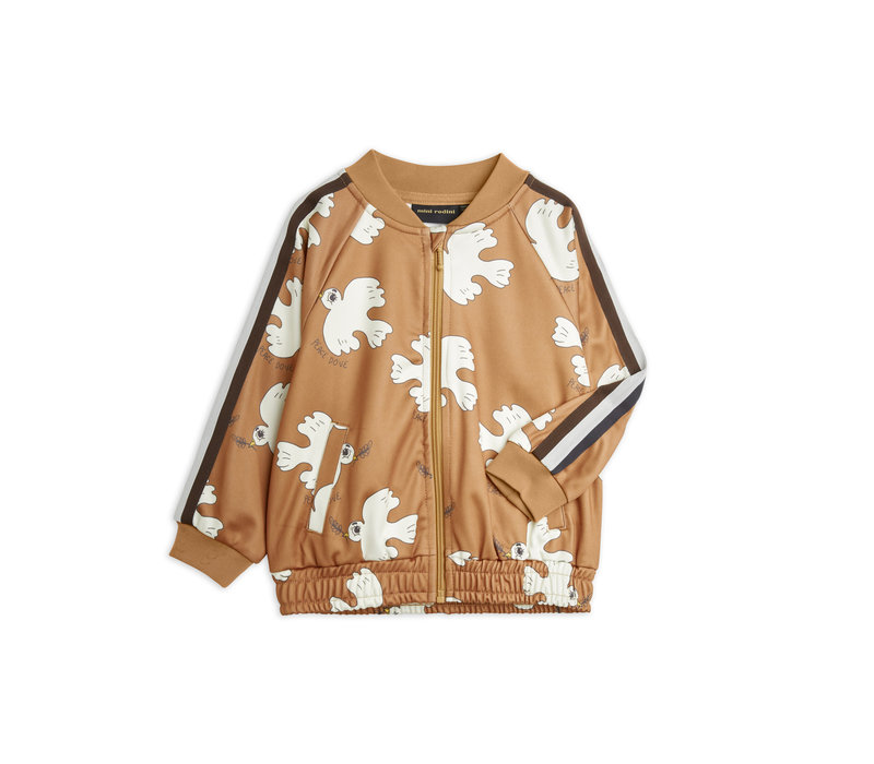 Mini Rodini Dove aop wct jacket Brown