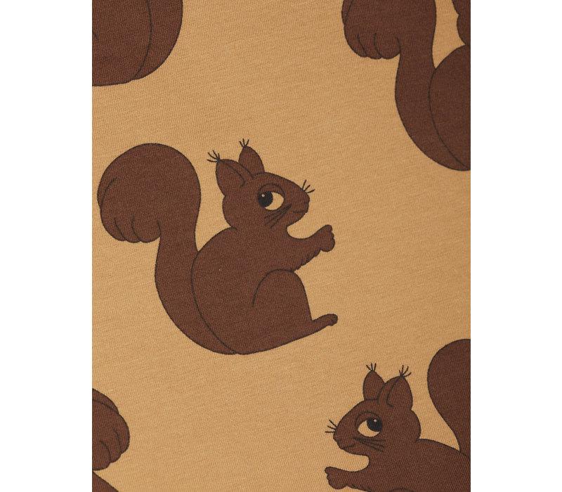 Mini Rodini Squirrel aop ss tee Brown