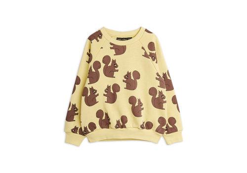 Mini Rodini Mini Rodini Squirrel aop sweatshirt Yellow