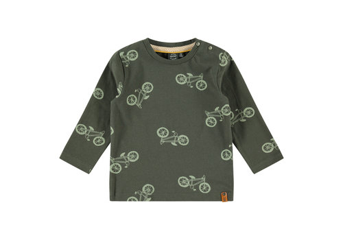 Babyface Babyface boys t-shirt long sleeve dark green