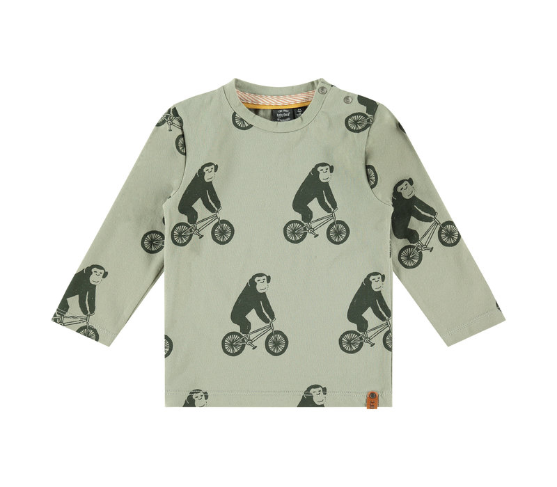 Babyface boys t-shirt long sleeve faded green