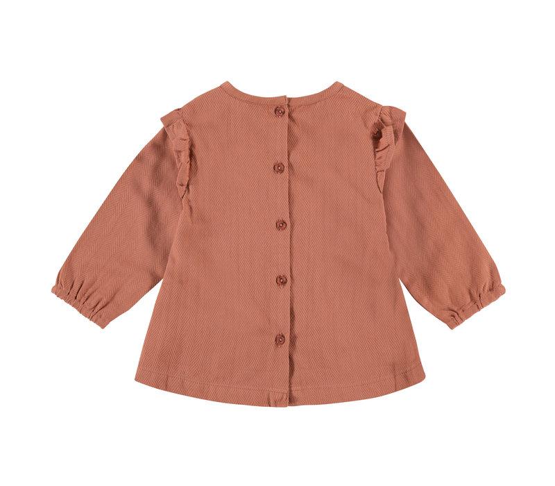 Babyface girls blouse terra pink