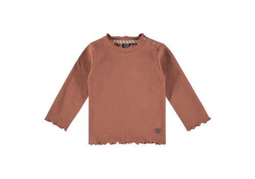 Babyface Babyface girls t-shirt long sleeve terra pink 5