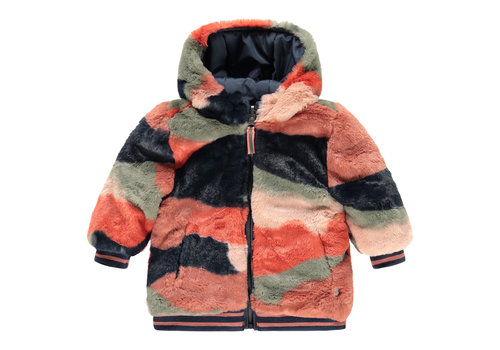 Babyface Babyface girls winter jacket reversible blue sea