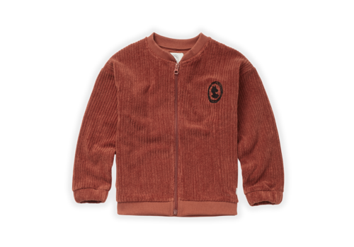 Sproet & Sprout Sproet & Sprout Baseball Terry Jacket Auburn