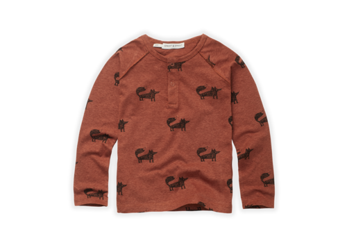 Sproet & Sprout Sproet & Sprout Granddad T-shirt Fox Print Auburn