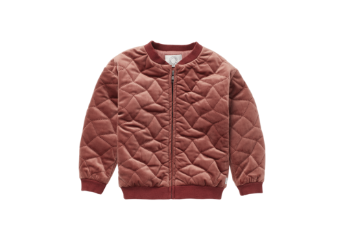 Sproet & Sprout Sproet & Sprout Jacket Quilted Velvet Fig