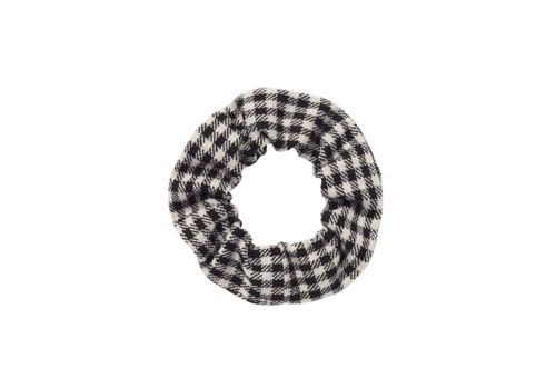 Sproet & Sprout Sproet & Sprout Scrunchie Block Check  Black