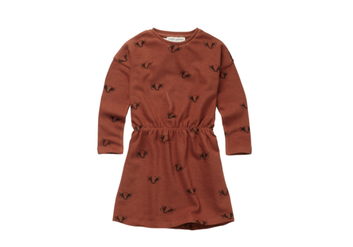 Sproet & Sprout Sproet & Sprout Skater Dress Badger Print Auburn
