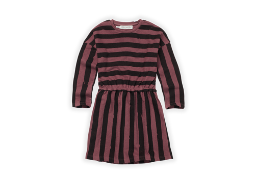 Sproet & Sprout Sproet & Sprout Skater Dress Painted Stripe Black/Fig