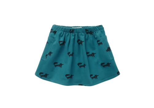 Sproet & Sprout Sproet & Sprout Skirt Fox Print Pine Green