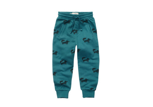Sproet & Sprout Sproet & Sprout Sweatpants Fox Print Pine Green