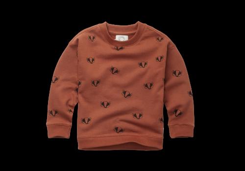 Sproet & Sprout Sproet & Sprout Sweatshirt Badger Print Auburn