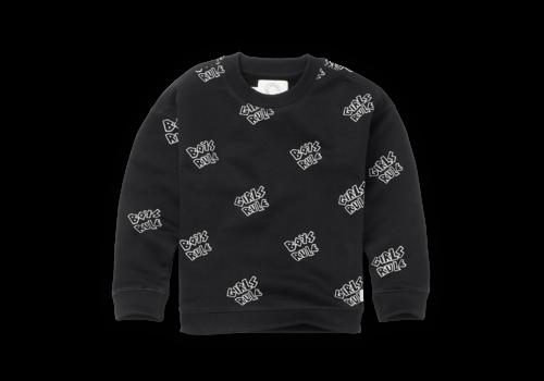 Sproet & Sprout Sproet & Sprout Sweatshirt Rules print Black