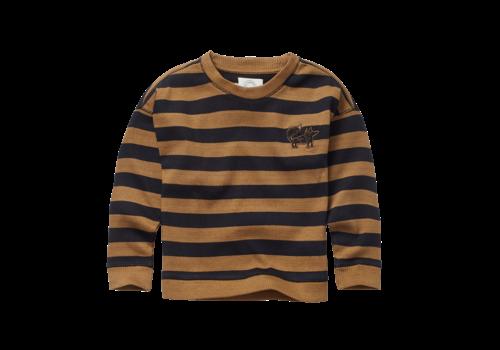 Sproet & Sprout Sproet & Sprout Sweatshirt Stripe Mustard/Black
