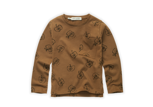 Sproet & Sprout Sproet & Sprout T-Shirt Apple Print Mustard