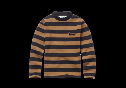 Sproet & Sprout Sproet & Sprout T-shirt Turtleneck Stripe Mustard/Black