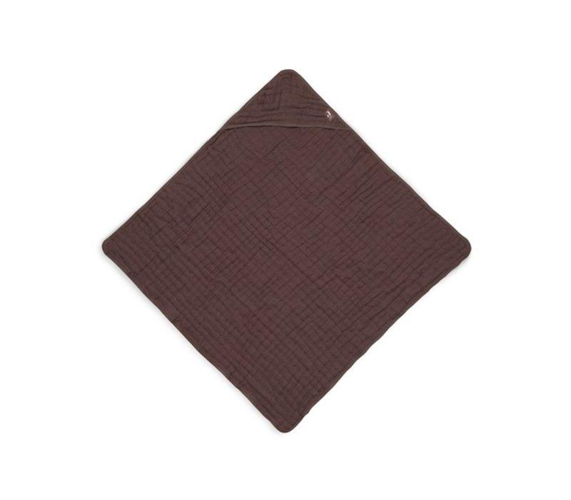 Jollein Badcape wrinkled cotton 75x75cm chestnut