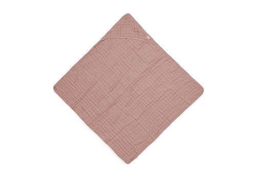 Jollein Jollein Badcape wrinkled cotton 75x75cm rosewood