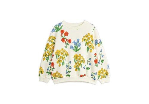 Mini Rodini Mini Rodini Snow flowers aop sweatshirt Offwhite