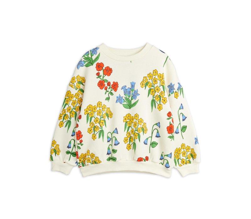 Mini Rodini Snow flowers aop sweatshirt Offwhite