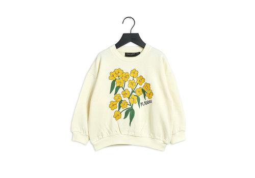 Mini Rodini Mini Rodini Alpine flowers emb sweatshirt White