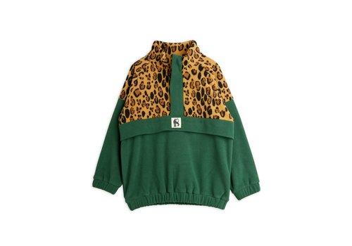 Mini Rodini Mini Rodini Fleece zip pullover Green