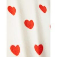 Mini Rodini Hearts fleece jacket Offwhite