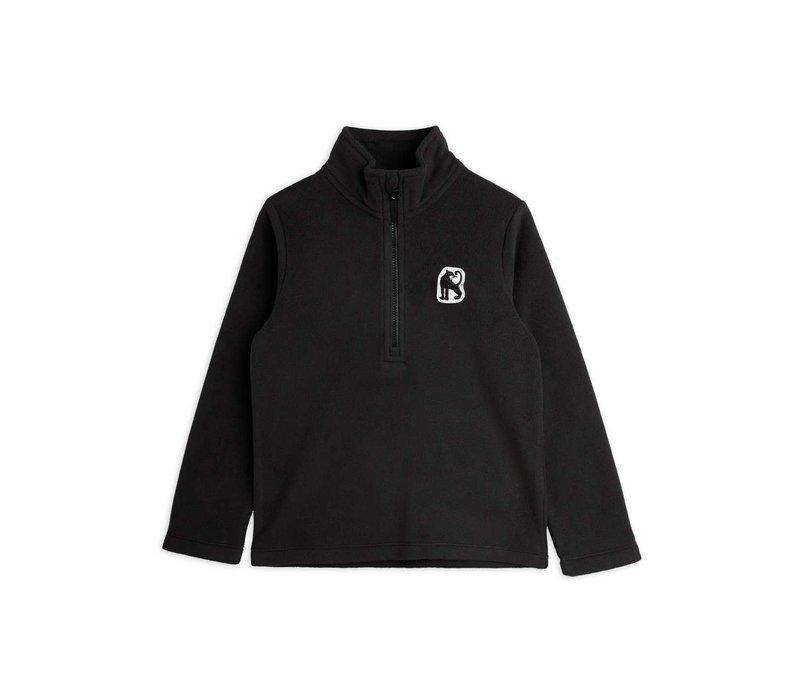Mini Rodini Microfleece zip ls tee Black