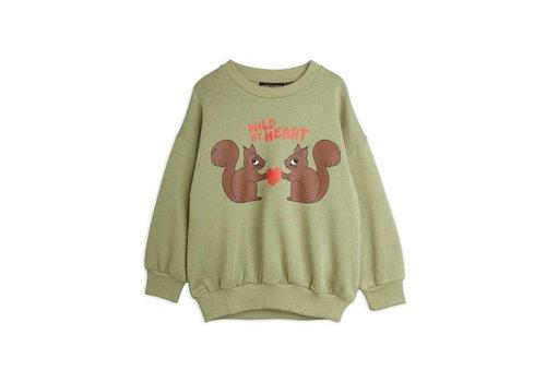 Mini Rodini Mini Rodini Wild at heart sweatshirt Green