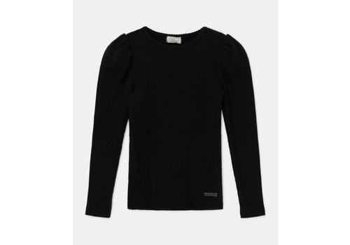 My Little Cozmo My Little Cozmo puff-sleeved rib sweater recycled Black