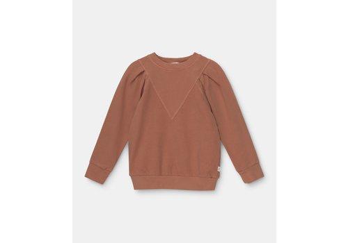 My Little Cozmo My Little Cozmo organic puff-sleeved girls sweatshirt Brown