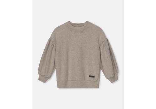 My Little Cozmo My Little Cozmo mono color girls sweater recycled Beige