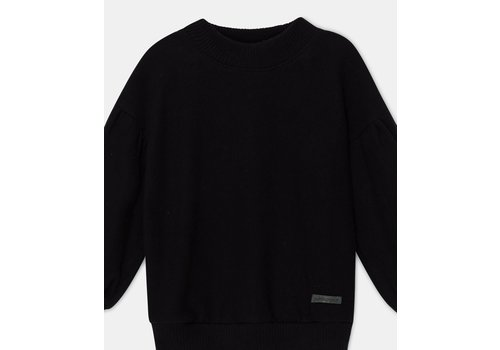 My Little Cozmo My Little Cozmo mono color girls sweater recycled Black
