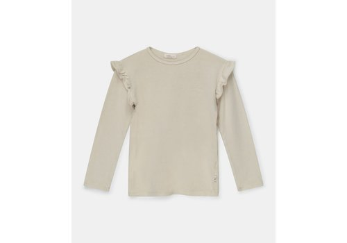 My Little Cozmo My Little Cozmo girls ruffle t-shirt recycled Stone