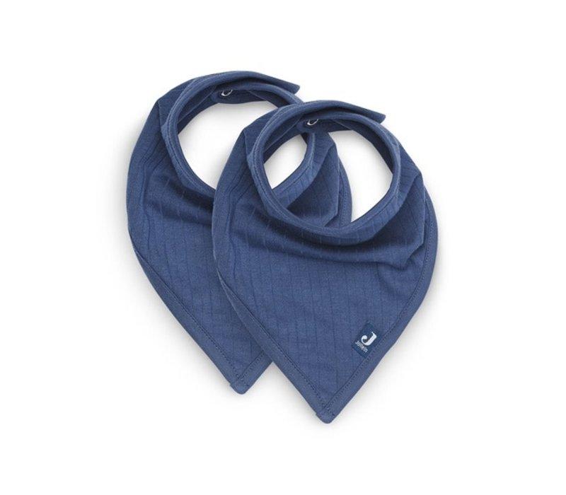 Jollein Slab bandana Basic stripe jeans blue (2 pack)