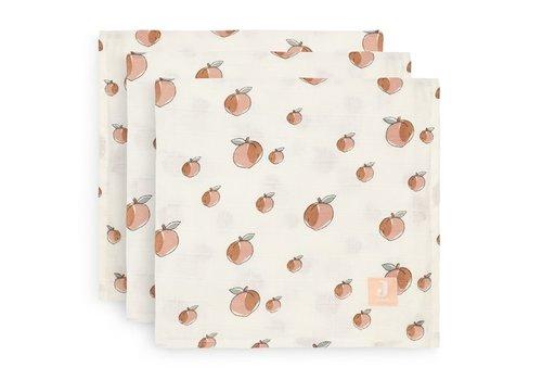 Jollein Jollein Multidoek hydrofiel small 70x70cm Peach (3pack)