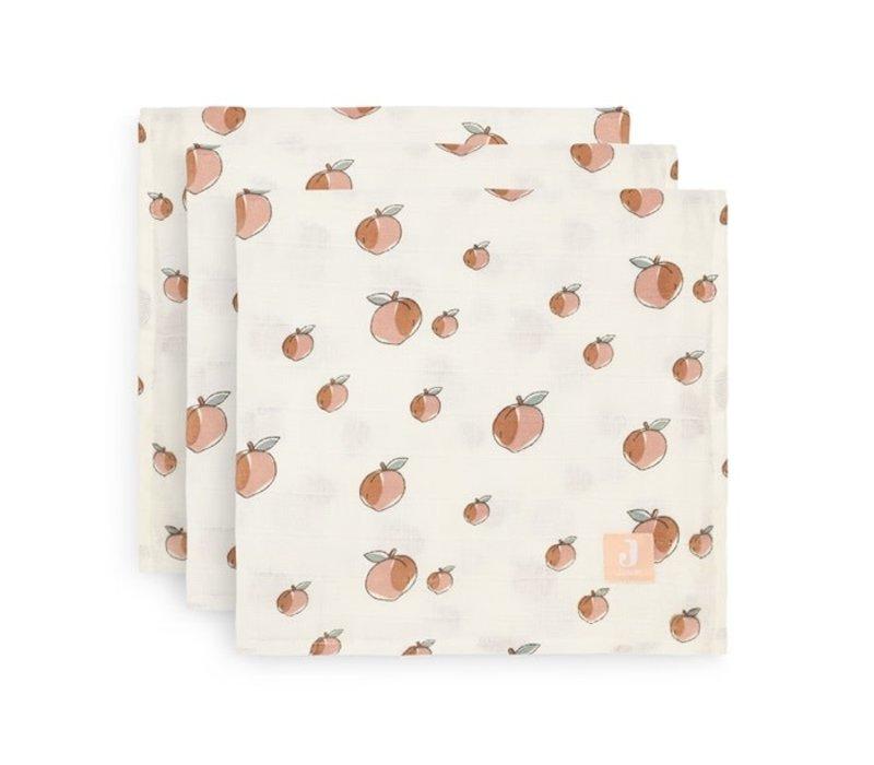 Jollein Multidoek hydrofiel small 70x70cm Peach (3pack)