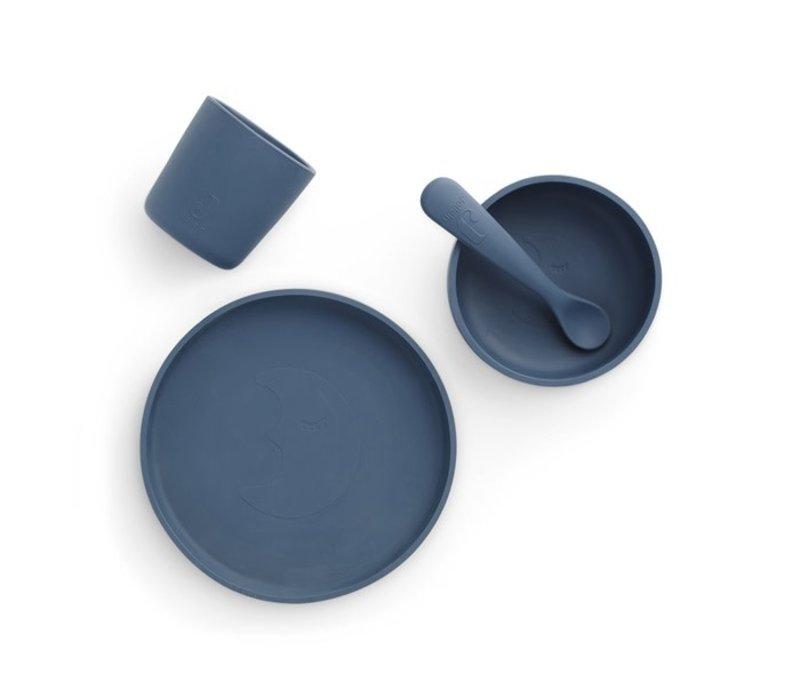 Jollein Dinerset Siliconen jeans blue